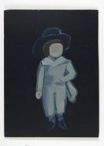 Miho Sato | Boy with Hat | 2008 | Acrylic on mailite | 42x31cm