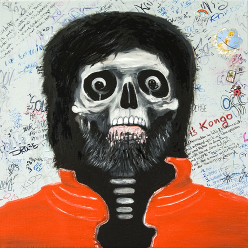 Moritz Schleime | Forever Michael | 2009 | Oil on canvas | 40x40cm