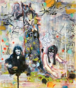 Dominic Shepherd | Quark Strangeness and Charm | 2010 | Oil on canvas | 35x31cm