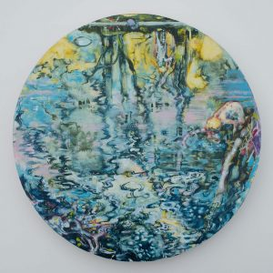 Dominic Shepherd | The River | 2013 | Oil on canvas | 40cm diameter | (1280×1280)