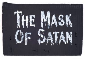 Jamie Shovlin | Index (The Mask of Satan AA) | 2011 | Watercolour and blackboard paint on card | 28x40cm