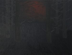 Alex Gene Morrison | Forest (with inverted symbols) | 2014 | Oil on canvas | 50x65cm