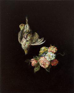 Emma Bennett | A Weightless Quiet | 2013 | Oil on oak panel | 25x20cm
