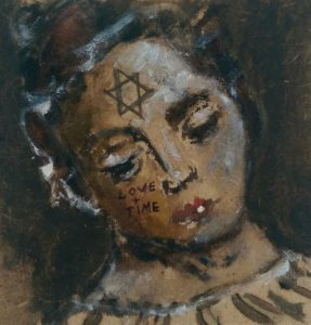 Sam Jackson | Star of David (Love and Time) | 2014 | Oil on board | 12x12cm