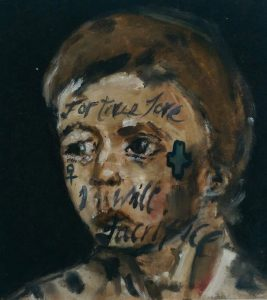 Sam Jackson | For True Love I will Sacrifice | 2014 | Oil on board | 12x12cm