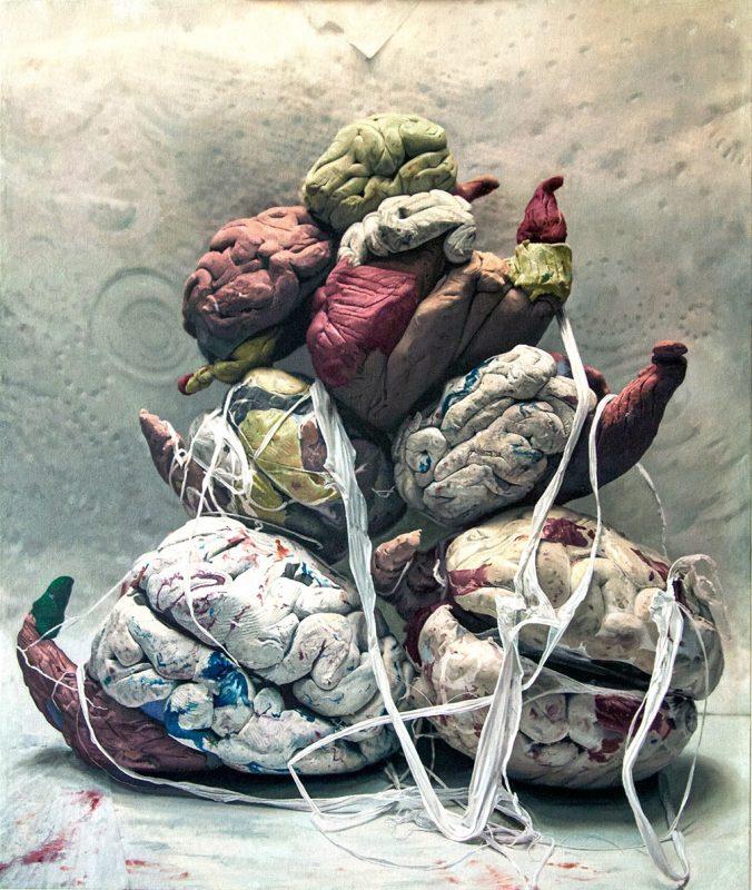 Jonny Green | Babel | 2014 | Oil on canvas on board | 144x122cm