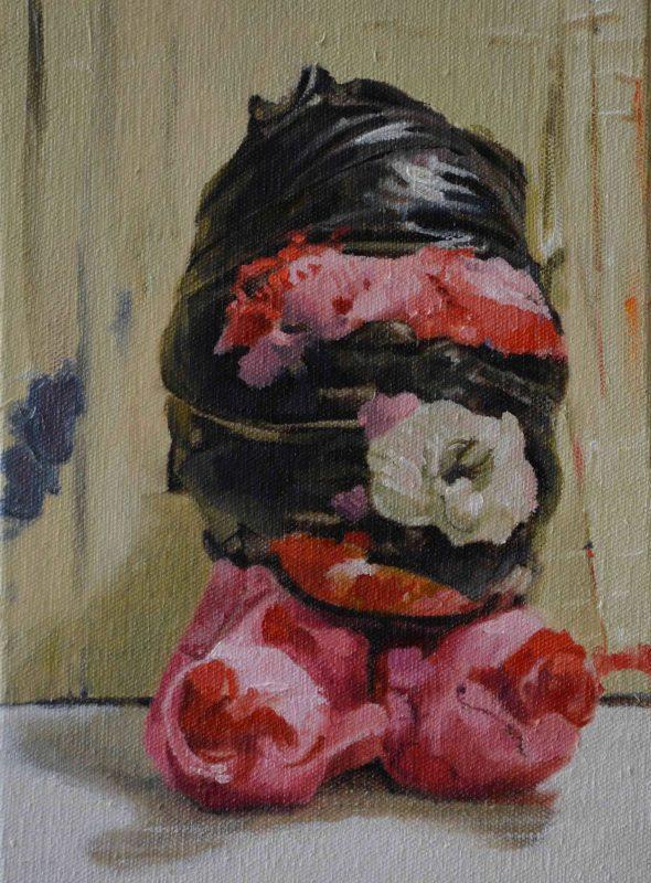 Jonny Green | Little Gimp | 2014 | Oil on canvas on board | 22x15cm