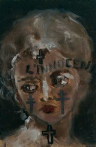 Sam Jackson | L' Innocence | 2014 | Oil on board | 15x10cm