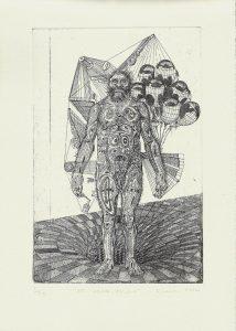 Gavin Nolan | As Below, Above | 2014 | Hard ground etching on 300 gsm Somerset soft white velvet paper (Ed.50) | 29.7x21cm