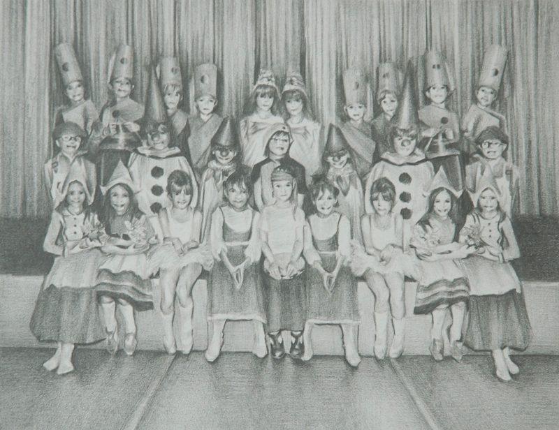 Susannah Douglas | Assembly | Diptych Part 1 | 2014 | Pencil on paper | 12×15.5cm
