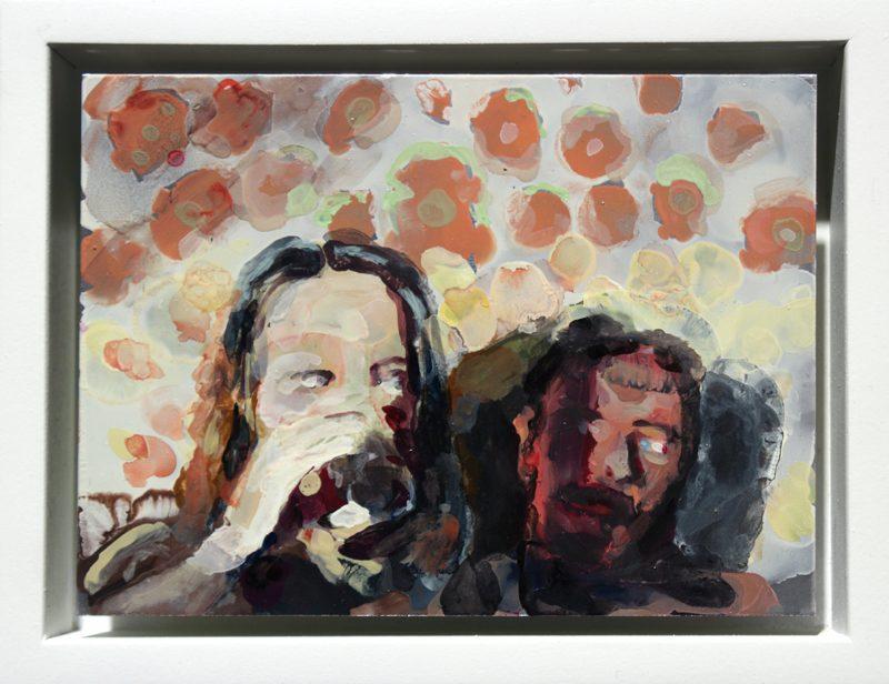 Geraldine Swayne | I Hope Not | 2014 | Enamel on aluminium | 8.5x11cm
