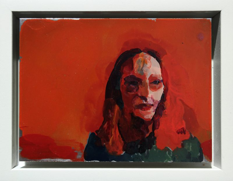Geraldine Swayne | In the Zone | 2014 | Enamel on aluminium | 10x7cm