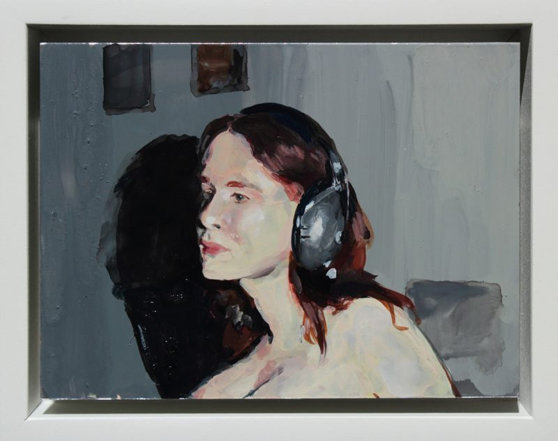 Geraldine Swayne | Jane Doe III | 2014 | Enamel on aluminium | 9.5×12.5cm