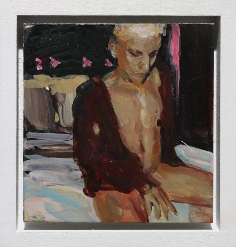 Geraldine Swane | Pretty Blonde Boy | 2013 | Enamel on aluminium | 8x8cm