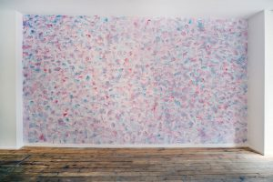 Russell Hill | Marion II | 2014 | Toothpaste, wall | Dimensions variable
