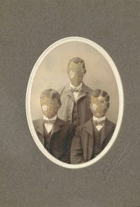 Tom Butler | Brothers | 2014 | Gouache on Albumen print | 12.7×17.8cm