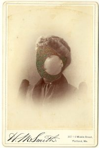 Tom Butler | Miss Smith | 2014 | Gouache on Albumen print | 16.5×10.5cm