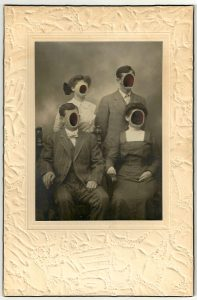 Tom Butler | The Huffs | 2014 | Gouache on Albumen print | 15.2×22.9cm