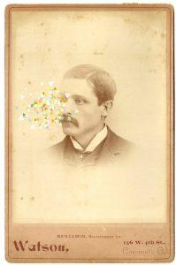 Tom Butler | Watson | 2014 | Gouache on Albumen print | 16.5×10.5cm