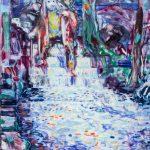 Dominic Shepherd   The Weir   2015   Oil on linen   42x30cm