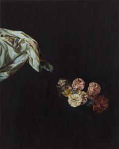 Emma Bennett | The Leaving | 2015 | Oil on oak panel | 25x20cm