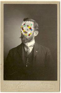 Tom Butler | Geof | 2014 | Gouache on Albumen print | 16.5×10.5cm