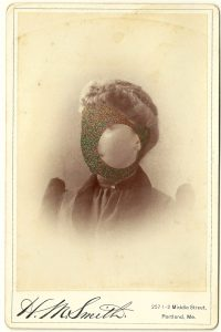 Tom Butler | Miss Smith | 2014 | Gouache on Albumen print | 16.5×10.5cm