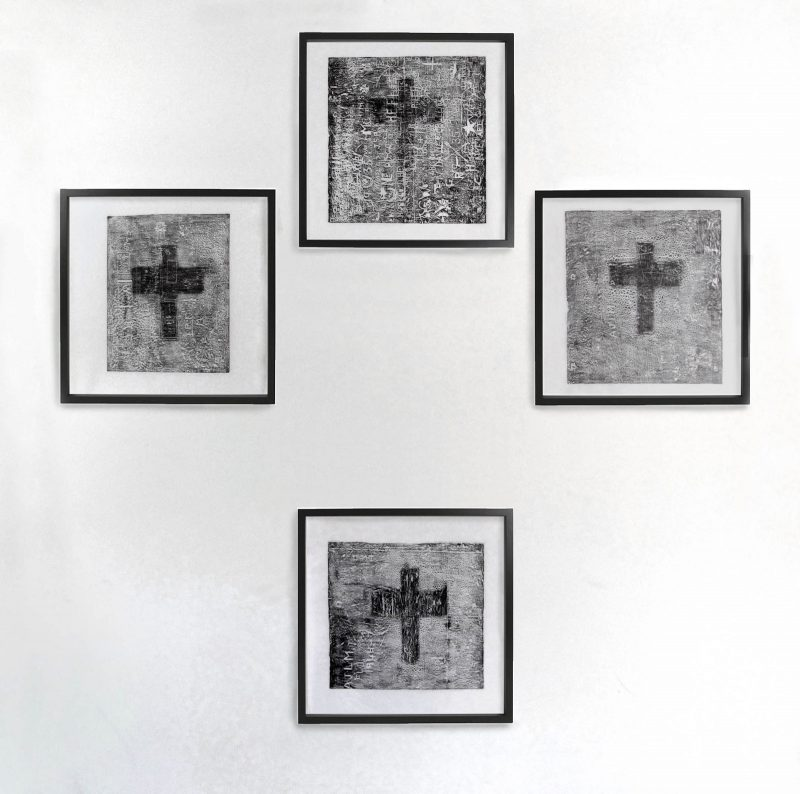 Beatrice Haines | Crucifix from the Sanatorium | 2011 | Graphite on paper | 200x200cm (set of 4)