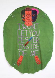 Henry Hussey | Cavity | 2015 | Textiles | 165x125cm