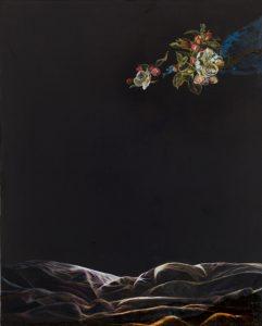 Emma Bennett | Drift | 2015 | Oil on oak panel | 25x20cm