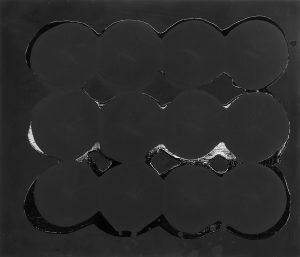 Ian Davenport | Untitled Matt & Gloss Black 1995 | 1995 | Household paint on medium fibre density board | 30x36cm