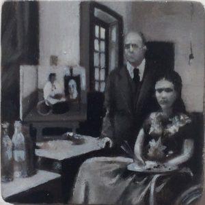 Oana Farcas | Untitled |2015 | Oil on wood | 3.3×3.3cm
