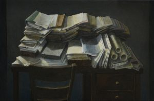 Mathew Gibson | Desktop | 2015 | Oil on panel | 18x24cm