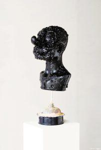 Kate Lyddon | Untitled (Lunatic) | 2013 | Polystyrene, enamel, metal, plastic, gloss paint, sink plunger, motor | 60x24x27cm