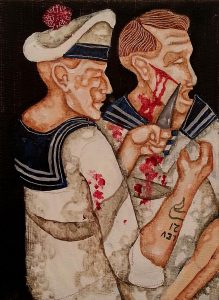 Joe Machine | Cut Face | 2015 | Acrylic on canvas | 18x12cm