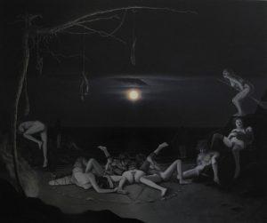 John Stark | The Great Mother Goddess | 2015 | Oil on wood panel | 50x60cm