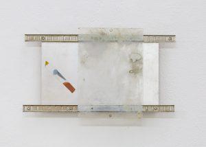 Lorraine Fossi | Sliding | 2015 | Acrylic board, aluminium, glass | 22x31cm