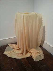 Kirsty Andrew | Untitled (Tablecloth II) | 2015 | Fabric, resin | 75x74x79cm