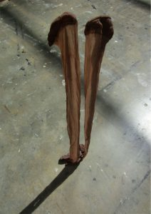 Kirsty Andrew | Untitled (tights I) | 2015 | Resin, tights | 76x14x24cm