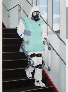 John Stark | Nuke Descending | 2016 | Oil on wood panel | 90x67cm