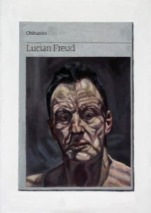 Hugh Mendes | Obituary: Lucian Freud | 2016 | Oil on linen | 35x25cm