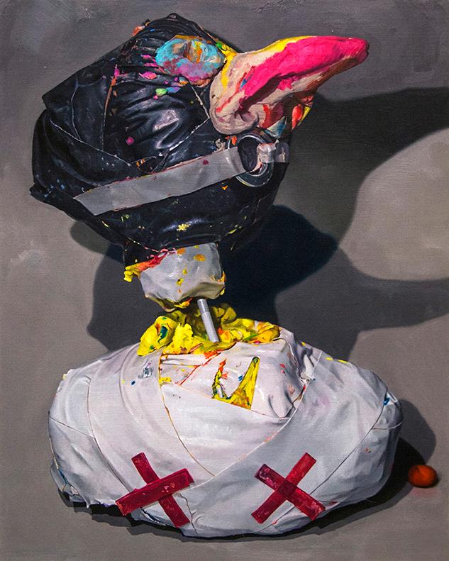 Jonny Green | Captain Beefheart | 2016 | Oil on canvas on board | 90x72cm