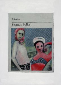 Hugh Mendes | Obituary: Sigmar Polke | 2015 | Oil on linen | 35x25cm