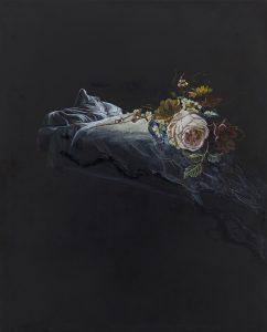 Emma Bennett | Ebb Tide | 2016 | Oil on oak panel | 25x20cm