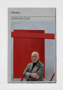 Hugh Mendes | Obituary: Anthony Caro | 2015 | Oil on linen | 35x25cm
