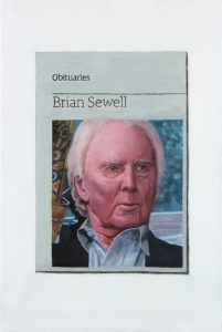Hugh Mendes | Obituary: Brian Sewell | 2016 | Oil on linen | 30x20cm
