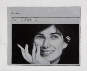 Hugh Mendes | Obituary: Chantal Akerman | 2016 | Oil on linen | 25x30cm