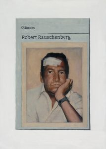 Hugh Mendes | Obituary: Robert Rauschenberg | 2015 | Oil on linen | 35x25cm