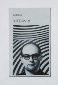 Hugh Mendes | Obituary: Sol LeWitt | 2015 | Oil on linen | 30x20cm