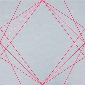 Katrina Blannin | Three Way | 2016 | Acrylic on linen | 50x50cm